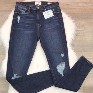 {Frame} Distressed Le High Skinny Denim Jeans 31